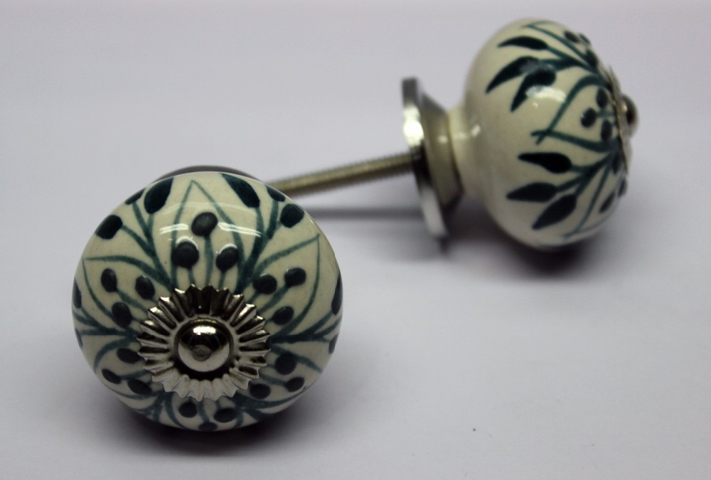 Hand Painted Metal Knobs