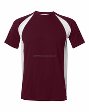 Mens Maroon And White And Grey Color block Short Sleeve T Shirt