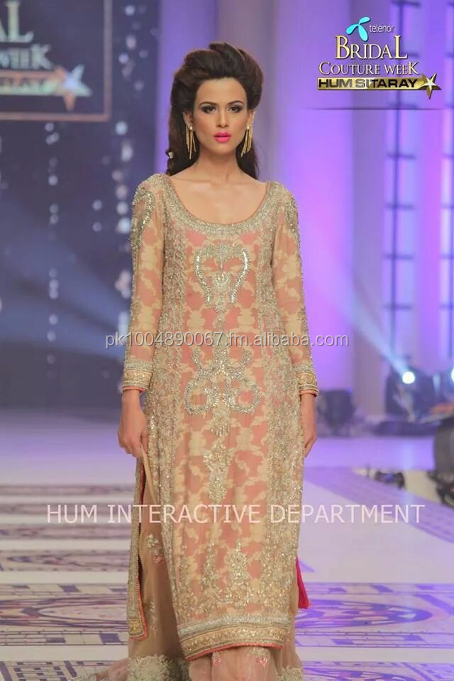 embroided chiffon banarsi with cuelot