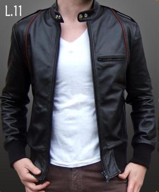 2017 Indonesia Supplier Wholesale Latest Design Men Genuine Leather Jacket L 11
