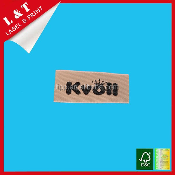 Wholesale custom satin woven label for clothing, towel, bags
