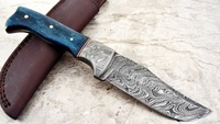 CUSTOM HANDMADE DAMASCUS STEEL HUNTING KNIFE