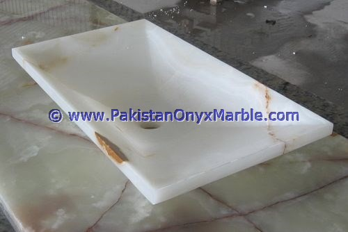New products superior Quality WHITE ONYX SINKS BASINS COLLECTION