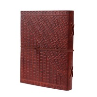 Store Indya Thoughtful Hand Embossed Leather Travel Pocket Journal