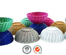 Melvin - wicker natural rattan basket with lots of color options