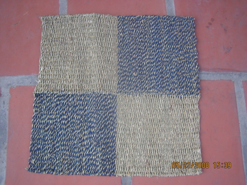Vietnamese hand woven seagrass beach bag natural wicker yoga mat cheap price straw mat