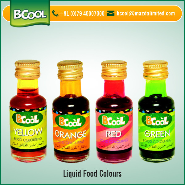 Superior Quality Liquid Food Color for Food, Soft Drinks, Beverages