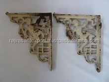 SMALL ANTIQUE VINTAGE CAST IRON VICTORIAN SHELF WALL BRACKETS