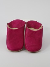 Fuchsia Oriental shoes for women, simple-styled model