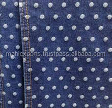 COTTON JACQUARD DENIM FABRIC FOR SHIRTING