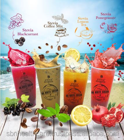 Coffee Mix & Fruits Drinks with Stevia Seaweed Natural Beverage Booth Package