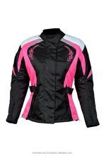 Women Motorcycle Motorbike Scooter Waterproof Textile Ladies cordura Jacket