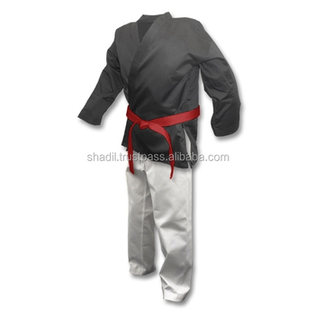 8 oz Middleweight Mix and Match Karate Martial Arts Uniform White Black