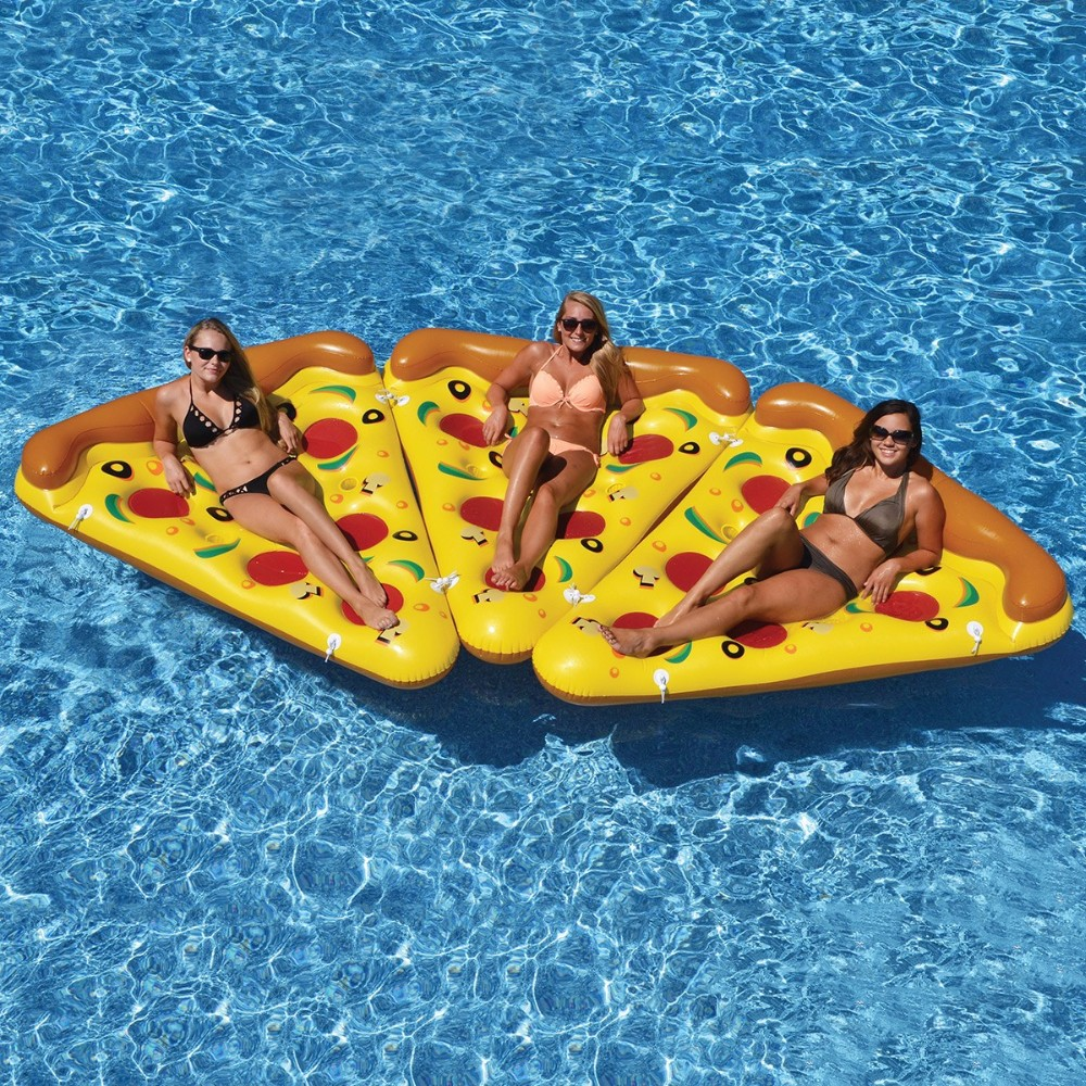 2017 swimming pool inflatable toys pizza floaties pvc inflatable floating toy