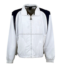 100% Polyester Micro Fiber With Mesh Lining Water-proof Wind Breaker color white with long sleeves