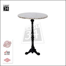 Marble High Bar Table Top Quality Bar Furniture with Metal Table Legs Antique Coffe Table