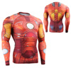 Men Zip-up Long Sleeve Swimwear UV Protection / compression shirt long sleeve
