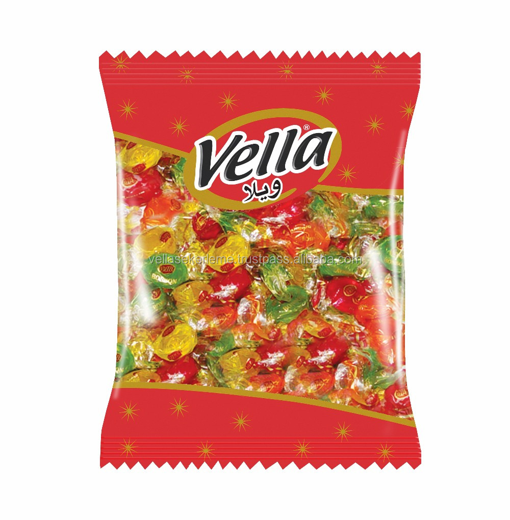 VELLABON BONBON HARD CANDY 1000 GR PVC BAG MIXED FRUIT