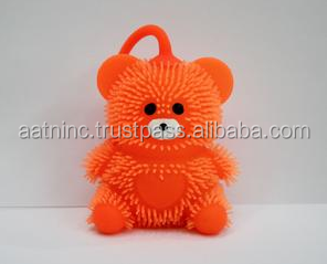 Spicky stress bear toy,child toy with soft light