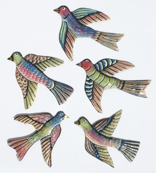 Colored Metal Birds Wall Art Metal Wall Hangings Haitian Products Arts And Crafts Port Au Prince Haiti