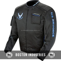 Custom Airforce Alpha Men's Black Textile Jacket Tear Resistance Cordura Textile Jackets Make Your Own Cordura Motorbike Jacket