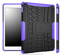 Hybrid D8 Heavy Duty Dual Layer Armor Protective Shockproof Anti-Scratch Rugged Stand Case for iPad Air 2 (purple)