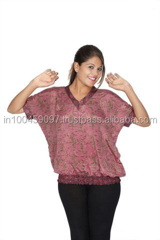 Ladies high fashion blouse tops