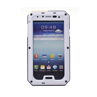 Hot Sale Waterproof Dropproof Shockproof Metal + Silicone combo Cover for Samsung Galaxy S4 I9502