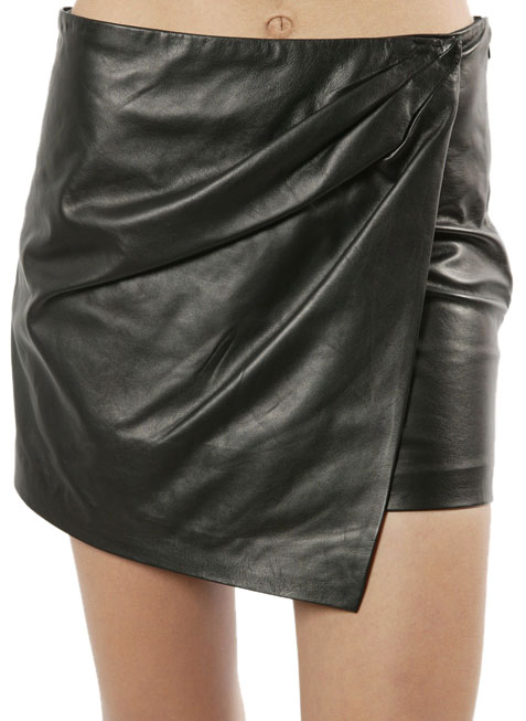Exquisite Leather Miniskirt For Women