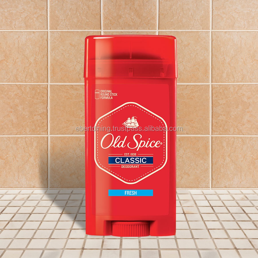 Old Spice deodorant stick and spray