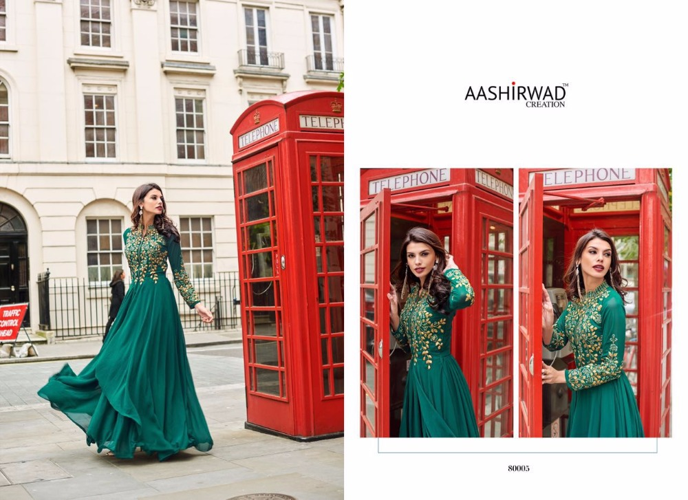 Latest Design Branded Aashirwaad London Dreamz Anarkali Chudidar Long Suits Whole Sale Indian Pakistani