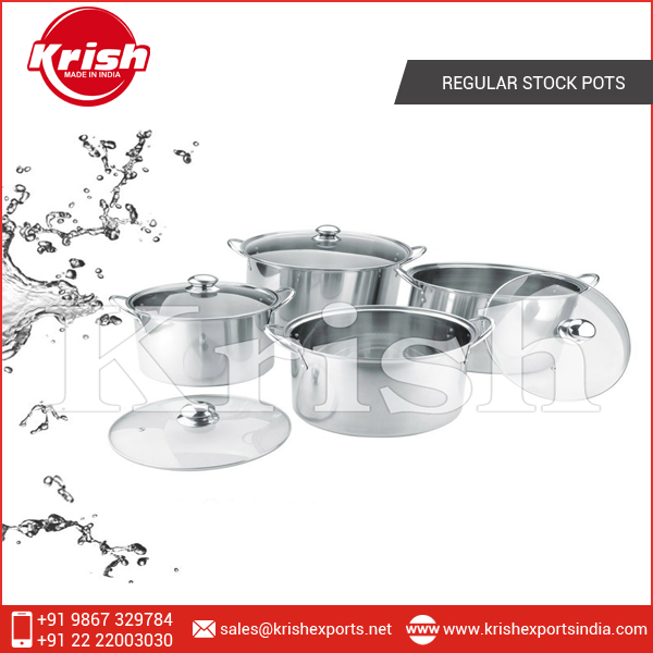 High Quality Made Regular Stock Pots from India
