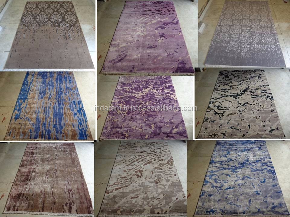 Patterned loop cotton carpets for hotels