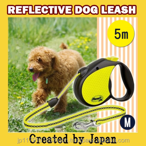 Functional and Fashionable reflective dog leash for safety dog running , training created by Japan