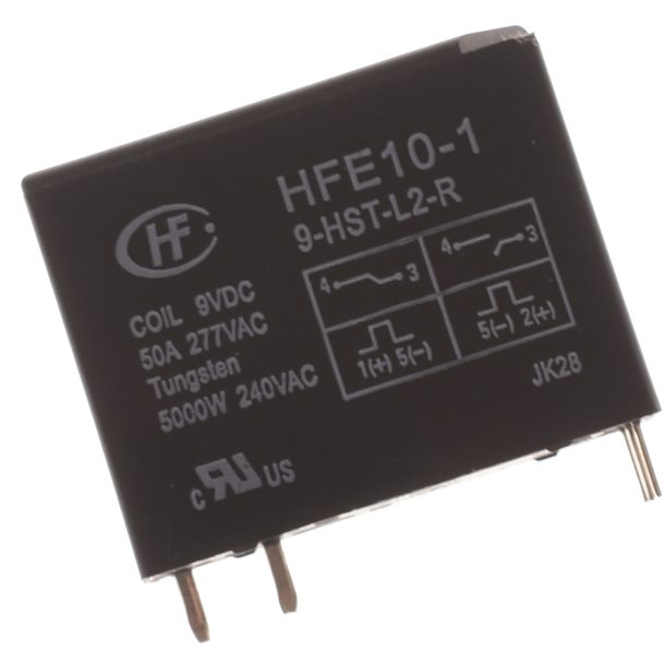 Hongfa Technology Power Relay HFE10-1-9-HST-L2-R 9VDC 50A 277VAC