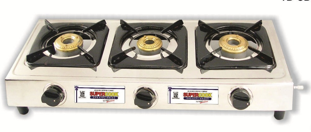 Supercook Three Burner SS Gas Stove