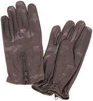 Leather Zipper Gloves