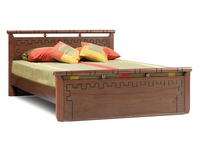 TEAK WOOD DOUBLE BED DESIGN