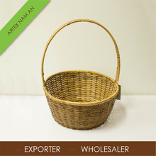 Best sell fancy round hanging flower basket from Vietnam