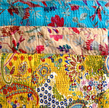 Vintage Wholesale Lot Christmas Kantha Quilts