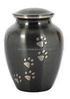 Brass Pet Urn Cremation urns metal urns with paw print