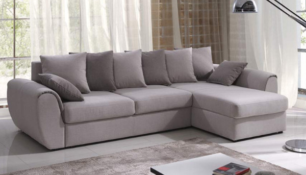 Corner sofa bed with storage Monza