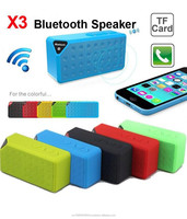 X3 Mini Portable Super bass Wireless Bluetooth Speaker Buid in Mic Radio Read Micro SD Card for all iPhone Android Smart Phones