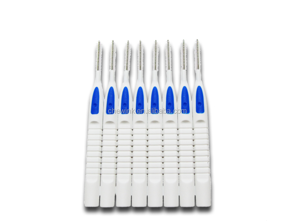 Orthodontic Disposable Various Sizes 8-piece Connected Interdental Cleaning Brush with Carry Case