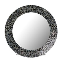 HT3128 Vietnam round lacquer mirror - Ha Thai lacquer factory