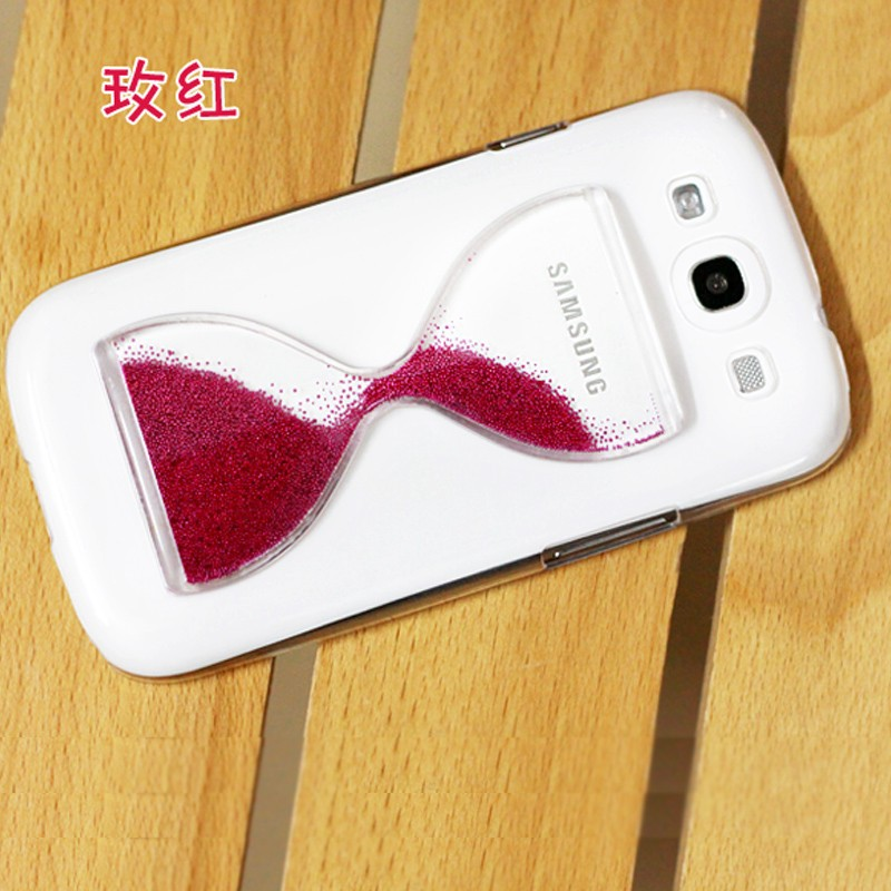 High Quality IMPRUE Dynamic Glitter Bottle Quick Sand phone Case back cover for samsung S4