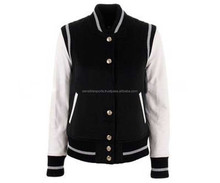 Custom All Wool Varsity College Jacket with Real Leather Sleeves jackets