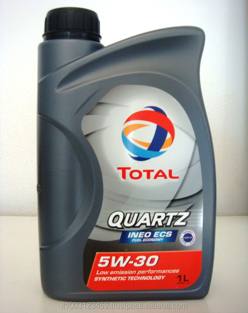 Total Quartz Ineo ECS 5w30 engine oil designed for Peugeot And Citroen 1 Liter bottle (box 18x1)