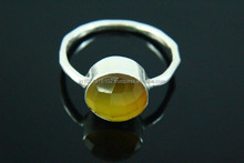 Latest 2015 925 Sterling Silver Collection, Fashion Silver Jewellery, Yellow Onyx gemstone Ring