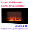 Wholesale Curved Wall Mounted Electric Fireplace